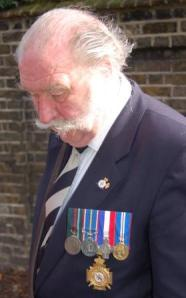 A veteran attends Trafalgar Day