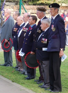 Veterans at the Trafalgar Day ceremony