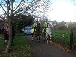 Police horses & Santa