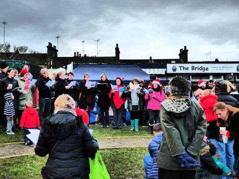 The Halstow Community Choir leading the Carol Singing